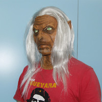 X-MERRY Scary Old Woman Lady Rubber Mask & Hair Granny Halloween Fancy Dress