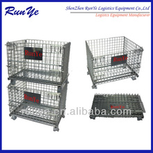 Metal butterfly cage /pallet cage factory/storage mesh cage china supplier with steel foot cup