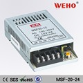 High quality output type 24v 1a 20w dc variable smps led power supply