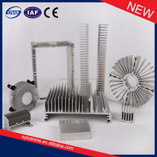 Custom made aluminum parts extrusion heat sink