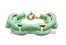 2014 new product indian gold kada designs Personalized enamel alloy charm link bracelet buy chinese product online