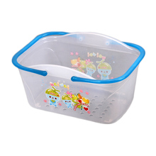 Walmart supplier Transparent Plastic basket Storage basket Plastic plastic handy baskets BN7111