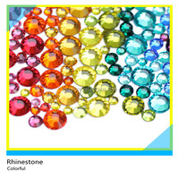 Wholesale DMC Rhinestone Hot Fix Flatback,More Than 50 Colors Round Crystal Rhinestone