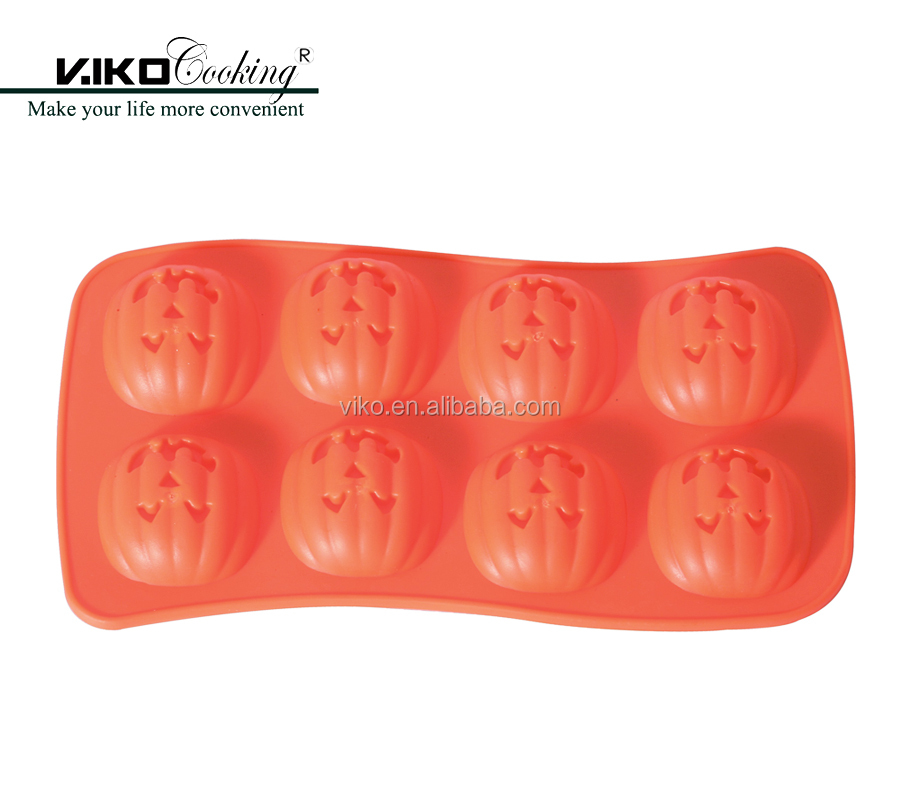 Nonstick Halloween Pumpkim Silicone Cake Molds for Cake Decorating