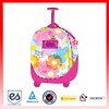 Color is pink kids trolley school bag for girls