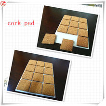 Factory production Glass protection cork pad