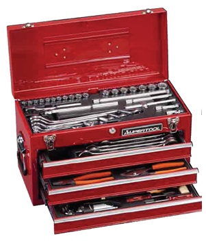 SUPERTOOL Professional Tool Box Set for Maintenance of cars, motorbike, machine, farm machine, any other machinery