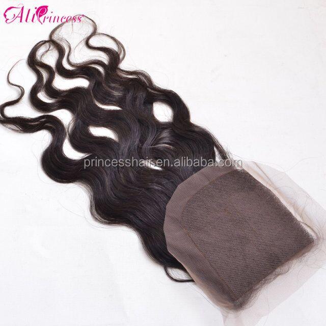 virgin brazilian and peruvian hair water wave lace closures Piece