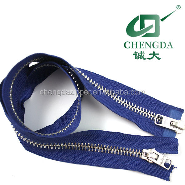 high quality metal zip two way zipper for jacket
