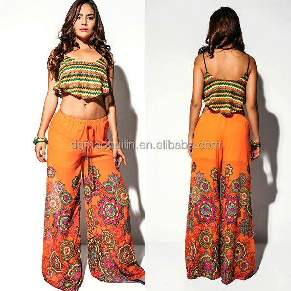 oem print wholesale factory indian women palazzo pants