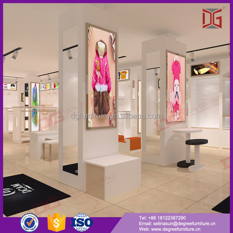 Custom Cute Kids Clothing Store Interior Design