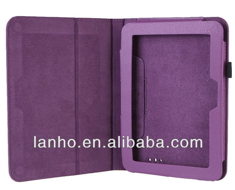 "2013 NEW Purple 7 inch Leather Case Cover Stand for Amazon Kindle Fire HD 7"" Tablet PC"