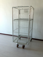 Material handling equipment foldable warehouse logistic trolley with wheels