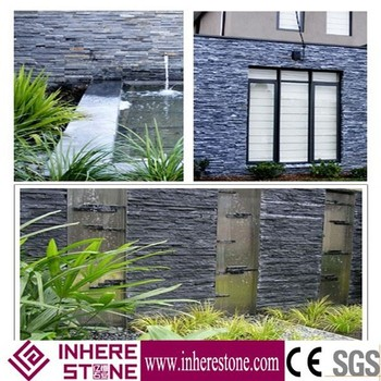 Black culture stone, Stone Panel, outdoor stone wall tile