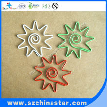 Unique metal sun shape paper clips