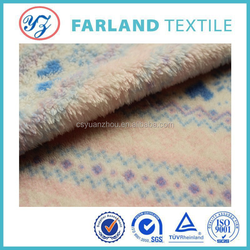 snowflake pattern coral fleece fabric warm and thick blankets fabric /bathrobe fabric