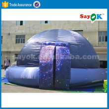 Giant geodesic inflatable party projection dome tent for sale