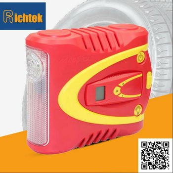 Best price 12V Digital Electric Car Mini Air Compressor with LED light for sale on Alibaba China
