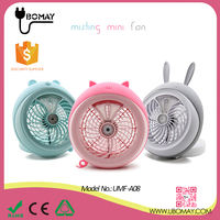 USB Mini Cute handheld mist water spray table fan for home/office