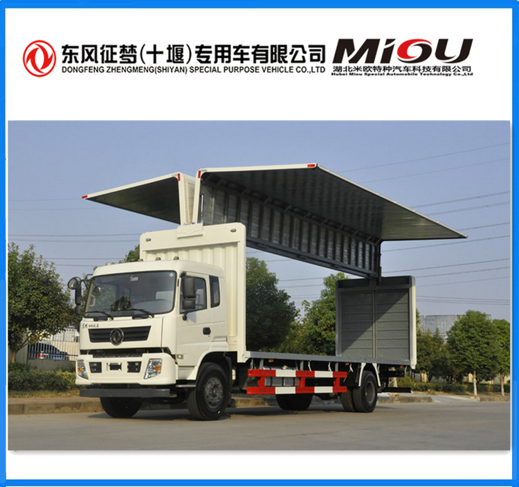 Dongfeng 180 hp 4X2 7.7 M wing open van trucks