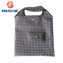 2017 Black and White Checked Promotional Drawsting Shopping Bag