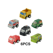 Pull Back Car Set included Police Car,Equation Car,Cartoon Car