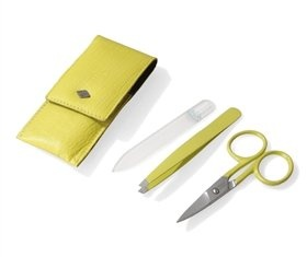 manicure set in fashion case /manicure set with nail polish/leather manicure set