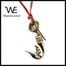 Retro The Ancient Long Leather Sweater Tassel Bronze Plating Stainless Steel Cross Female Pendant Winter Accessories Jewelry