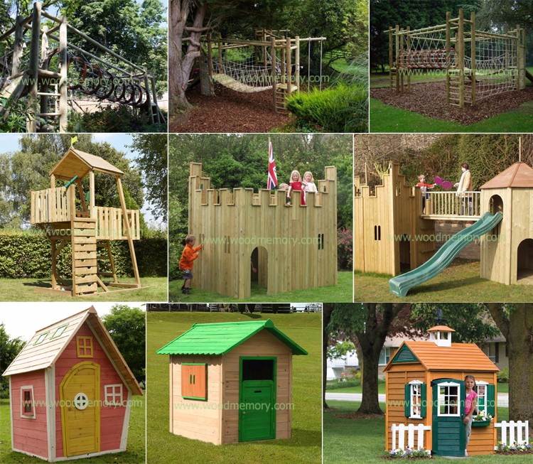 Fairy tale style easy installation wooden wendy house for Wooden wendy house ideas