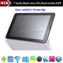 2014 7 inch very cheap mtk8312 tablet pc 3g sim card slot metal cover 512 4gb