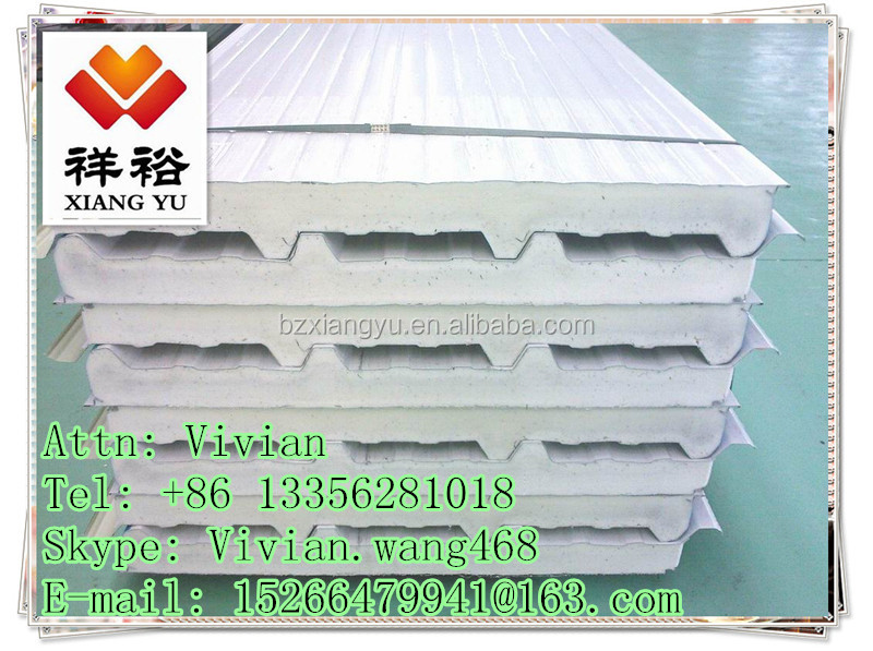 PU sandwich wall/roof panel for warehouse