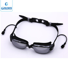 ear plug goggles China manufacturer hot sale electroplate swim goggles with earplug