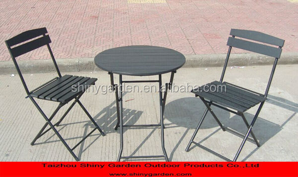 polywood outdoor table and chair furniture for CARREFROUR
