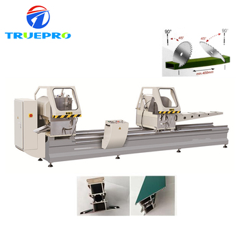 Double head cutting saw aluminum window machine / saw for cutting aluminum