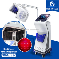 CE aproved laser hair regrowth product preventing hair loss/hair restoration machine for men and women