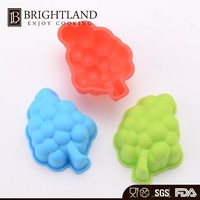 Colorful Cute Non-stick Grape Shape Silicone Mould Cake Topper