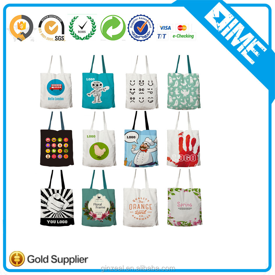 Made in China Logo Customized Printed New Products Canvas Shopping Bags