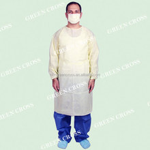 Surgical gown factory, non-woven gown new model, 2015 sells well surgical gown