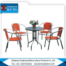 Factory Garden Tear Resistant Outdoor Metal Table And Chairs