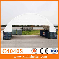 C4040S PVC material prefab shelter for 40 ft storage container