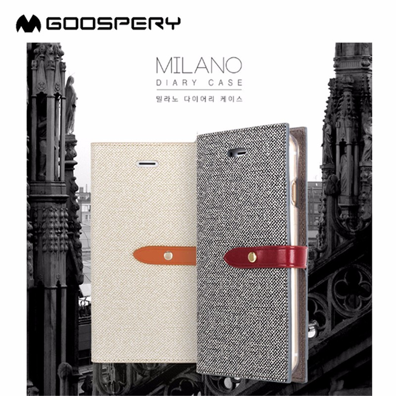 Goopery Milano Stand Wallet PU Leather Mobile Phone Case for iphone 5 case leather