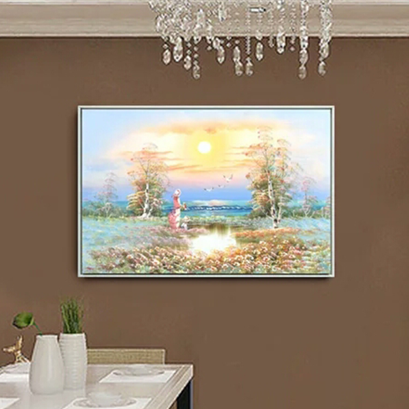Decorative Custom Modern Oil Painting 3D Landscape <strong>Pictures</strong>