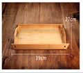 Natural Bamboo Kitchen Food Serving Tray with slant sides