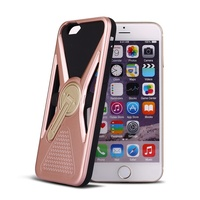 2016 new designed TPU+PC 360 swinging strut mobile phone case creative back cover for iphone 6 6s