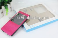 Luxury Wallet Leather Smart Case Stand Cover with Open View Window for Mobile Phone Samsung Galaxy Note 3