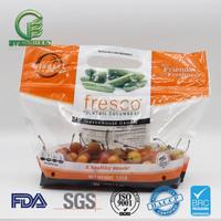 Fresh fruit vegetable plasitc packaging bag with hole