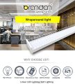 T8 Led Surface Mount Light Wire Guard T5 Batten Lighting Fixture 4 Foot Led Wrap Fixture
