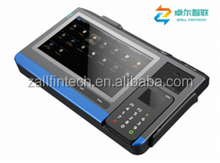 "10.1"" Android all-in-one tablet pos terminal with printer for lottery, e-voucher, top-up,air-time,e-ticketing"