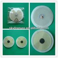 8cm round carbon conductive tens electrode pad replacement gel pad for gymform duo