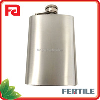 HQP106225 hip flask/flagon/wine pot with colorful leather wrapped stainless steel wine pot
